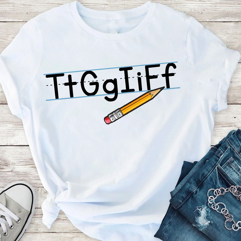 Funny Teacher Shirt TtGgIiFf Thank God It's Friday