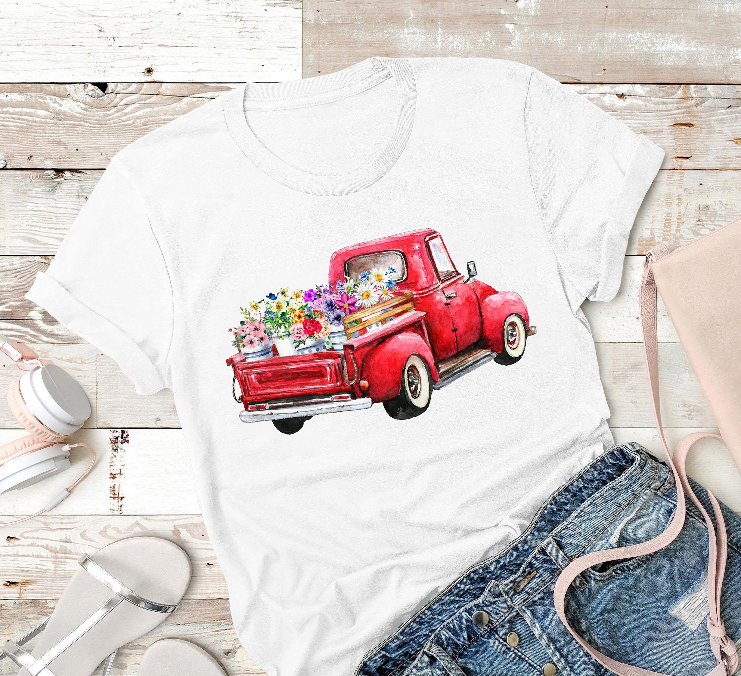 Garden Shirt Truck Flower