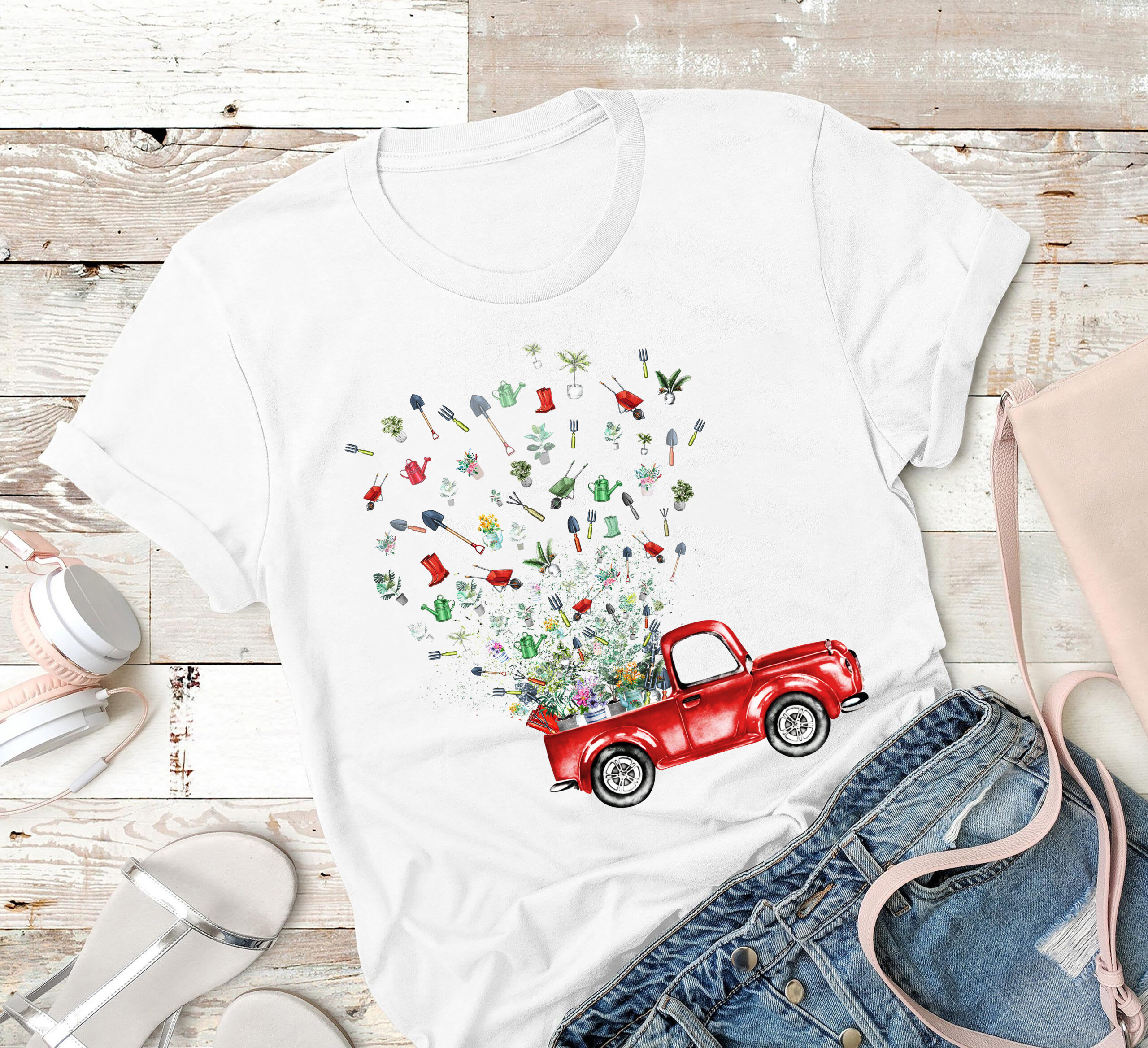 Garden Shirt Truck Gardening Tools Fly