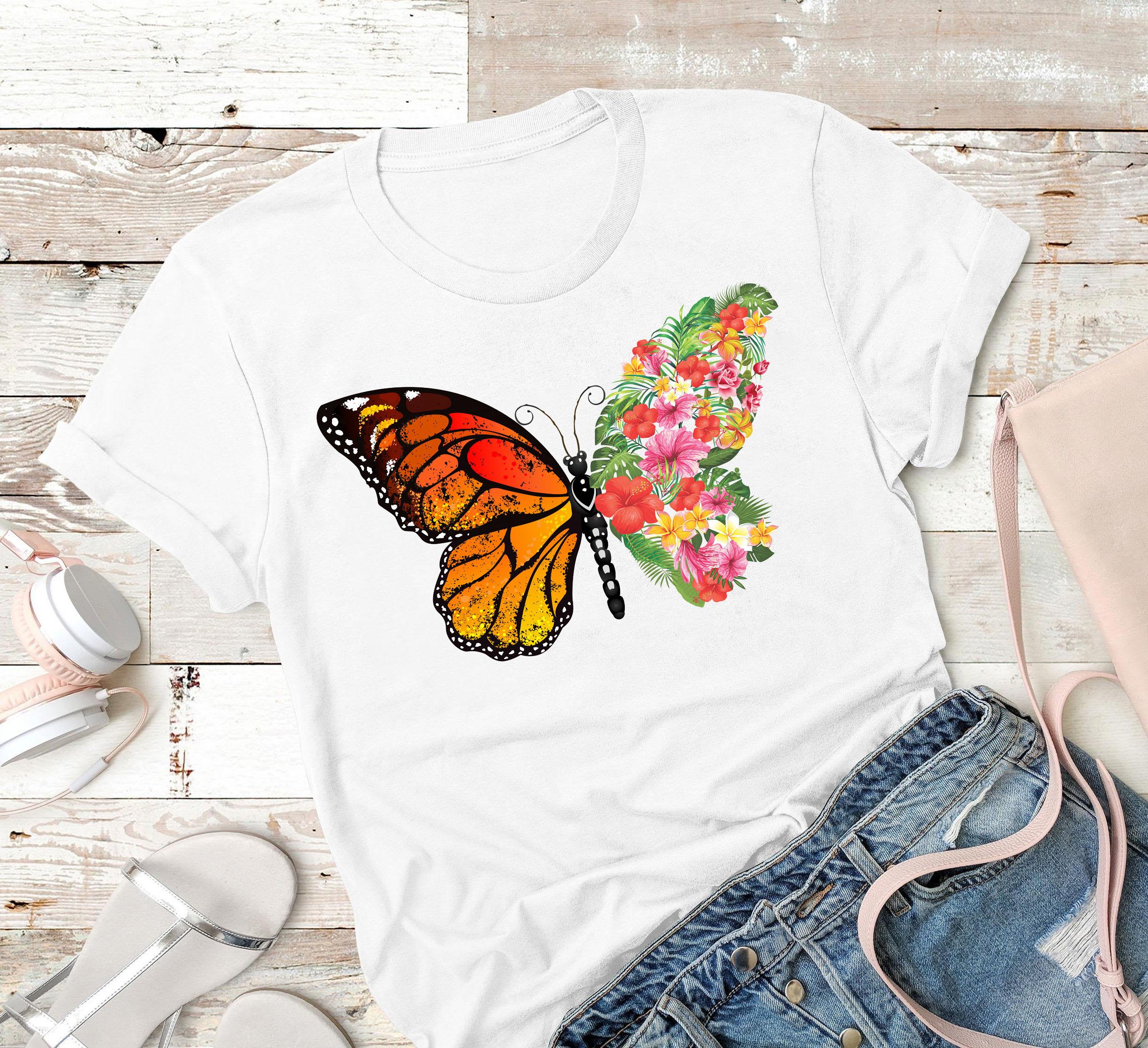 Gardening Shirt Butterfly Flower