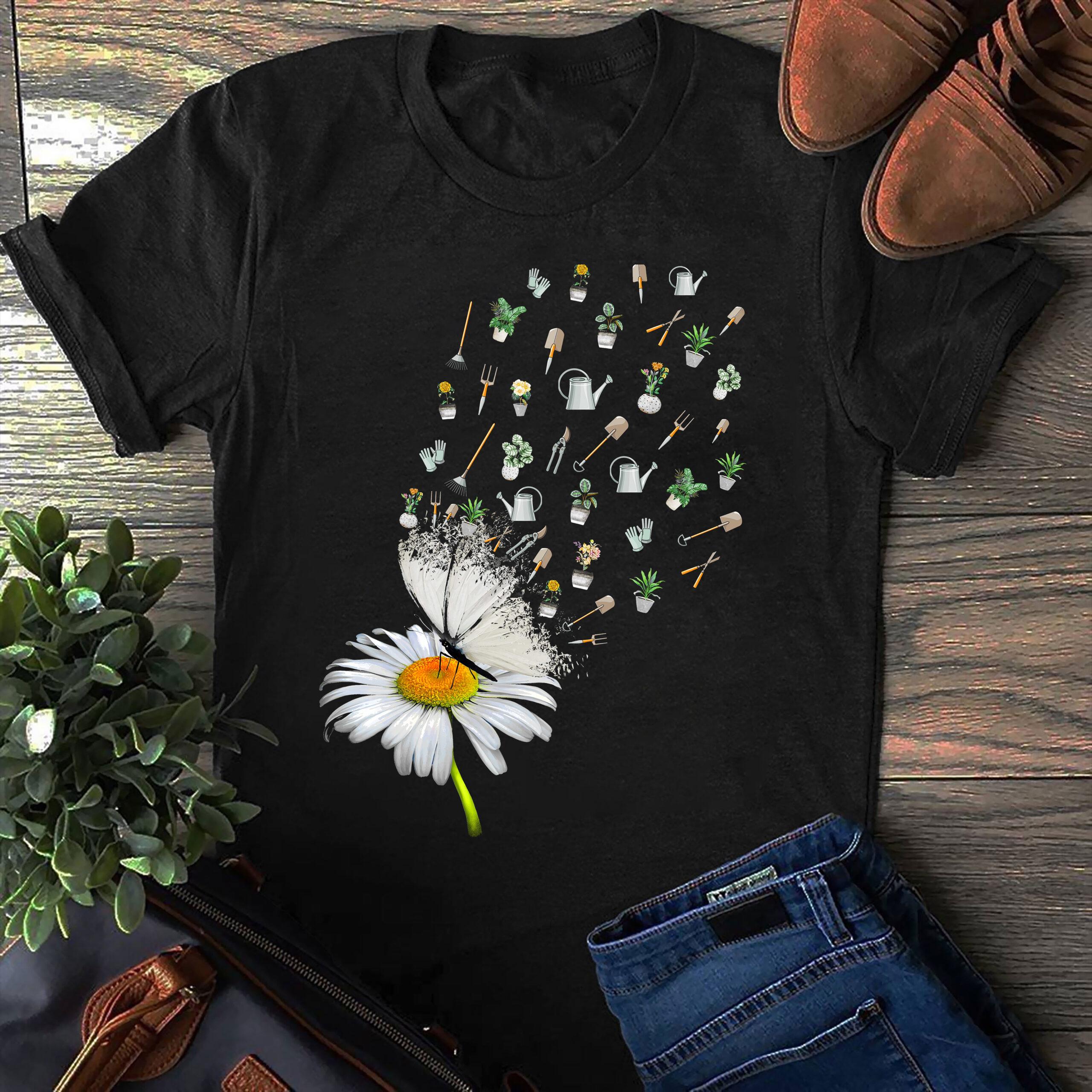 Gardening Shirt Sunflower Gardening Tools Fly