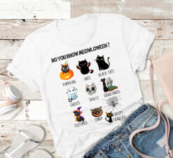 Halloween Cat Shirt Do You Know Meowloween