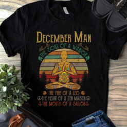 Hippie Yoga Shirt December Man The Soul Of A Warrior