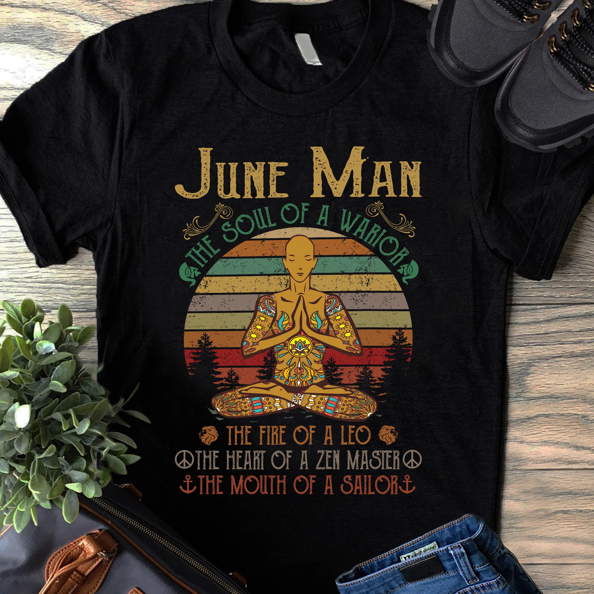 Hippie Yoga Shirt June Man The Soul Of A Warrior
