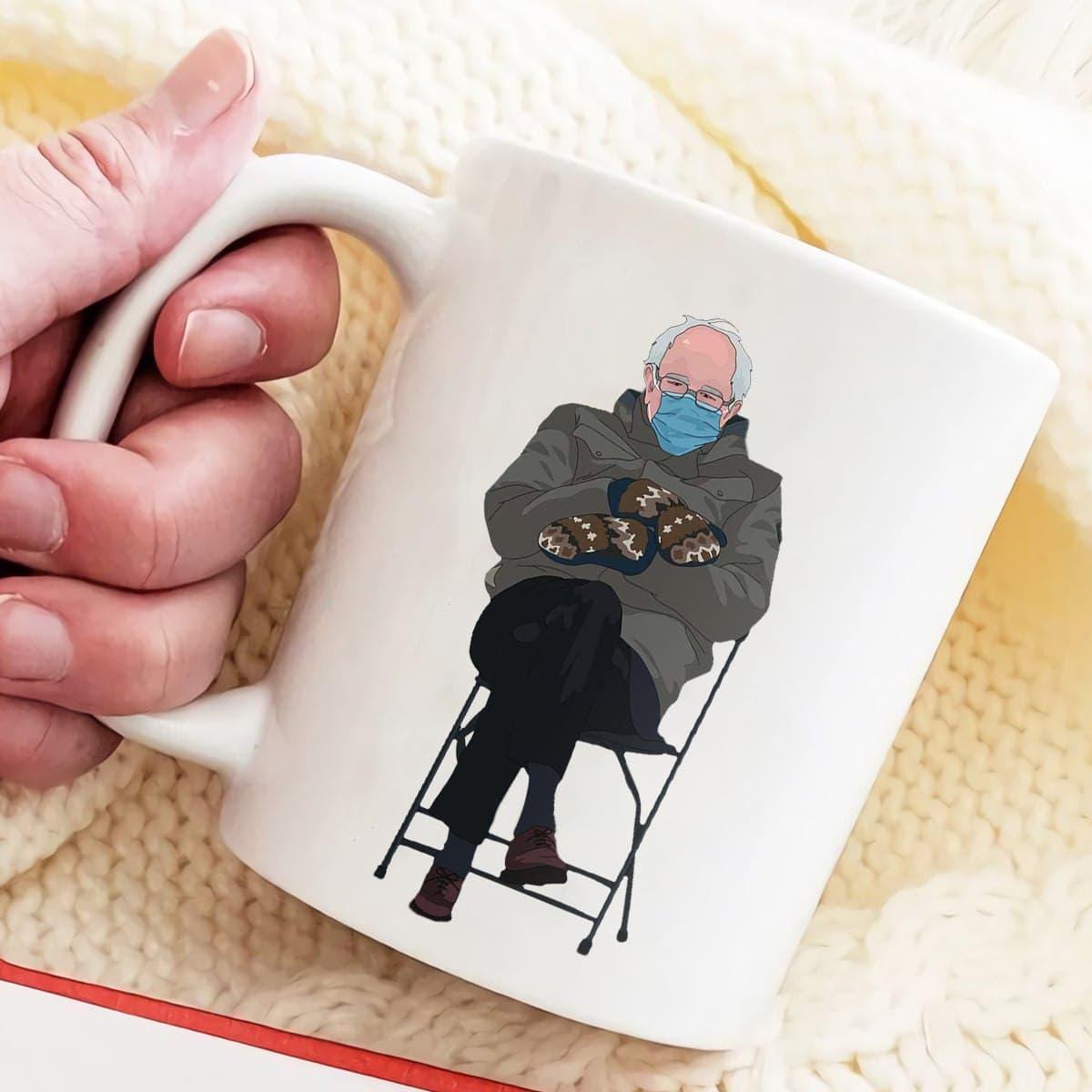 Hot Meme Bernie Sanders Mug Inauguration 2021