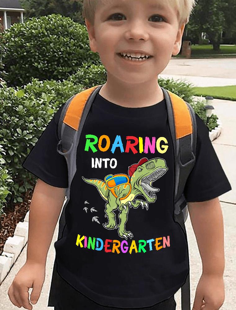 Kindergarten Shirt Roaring Into Dinosaur