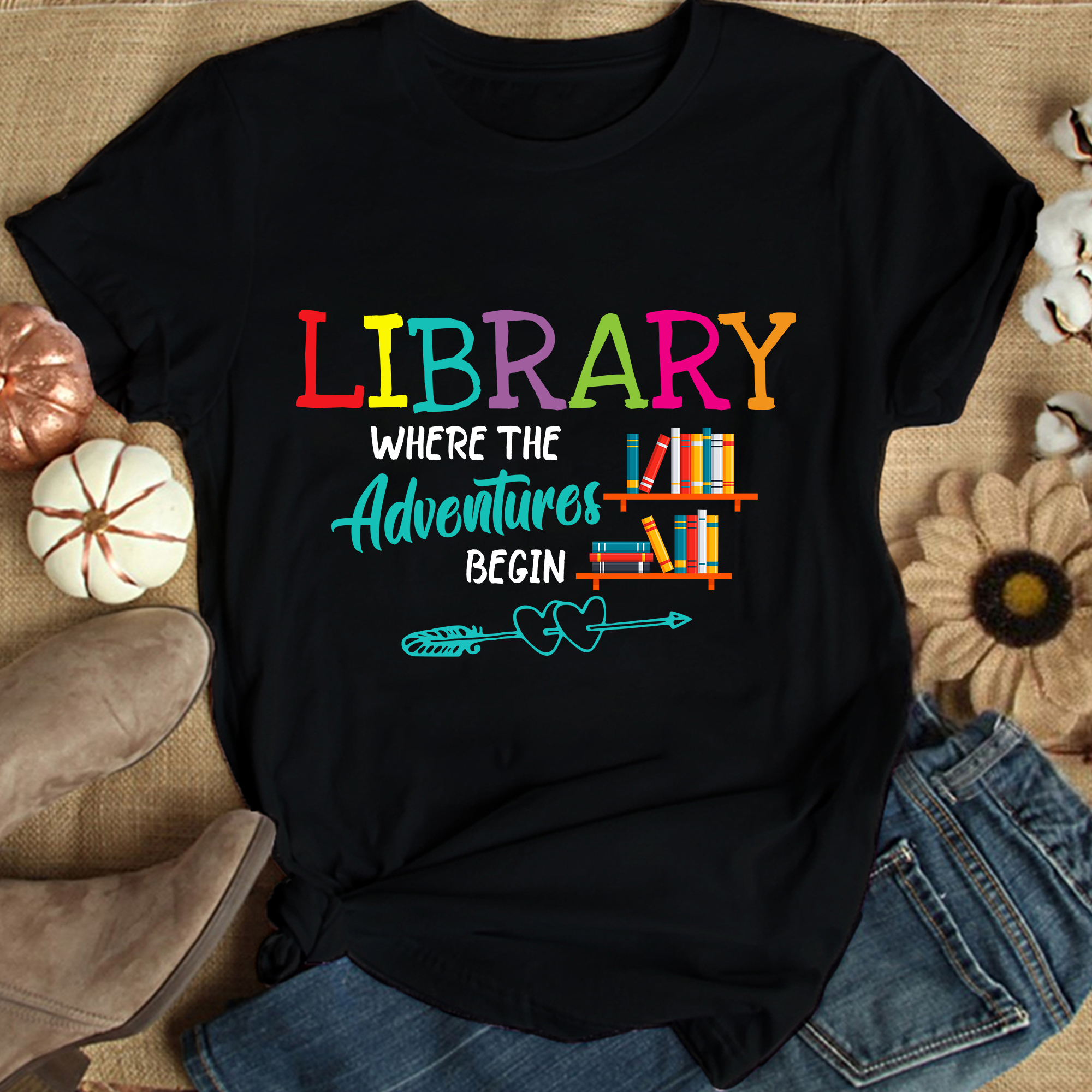 Library Shirt Where The Adventures Begin