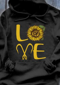 Love Sunflower Fishing Hook Shirt