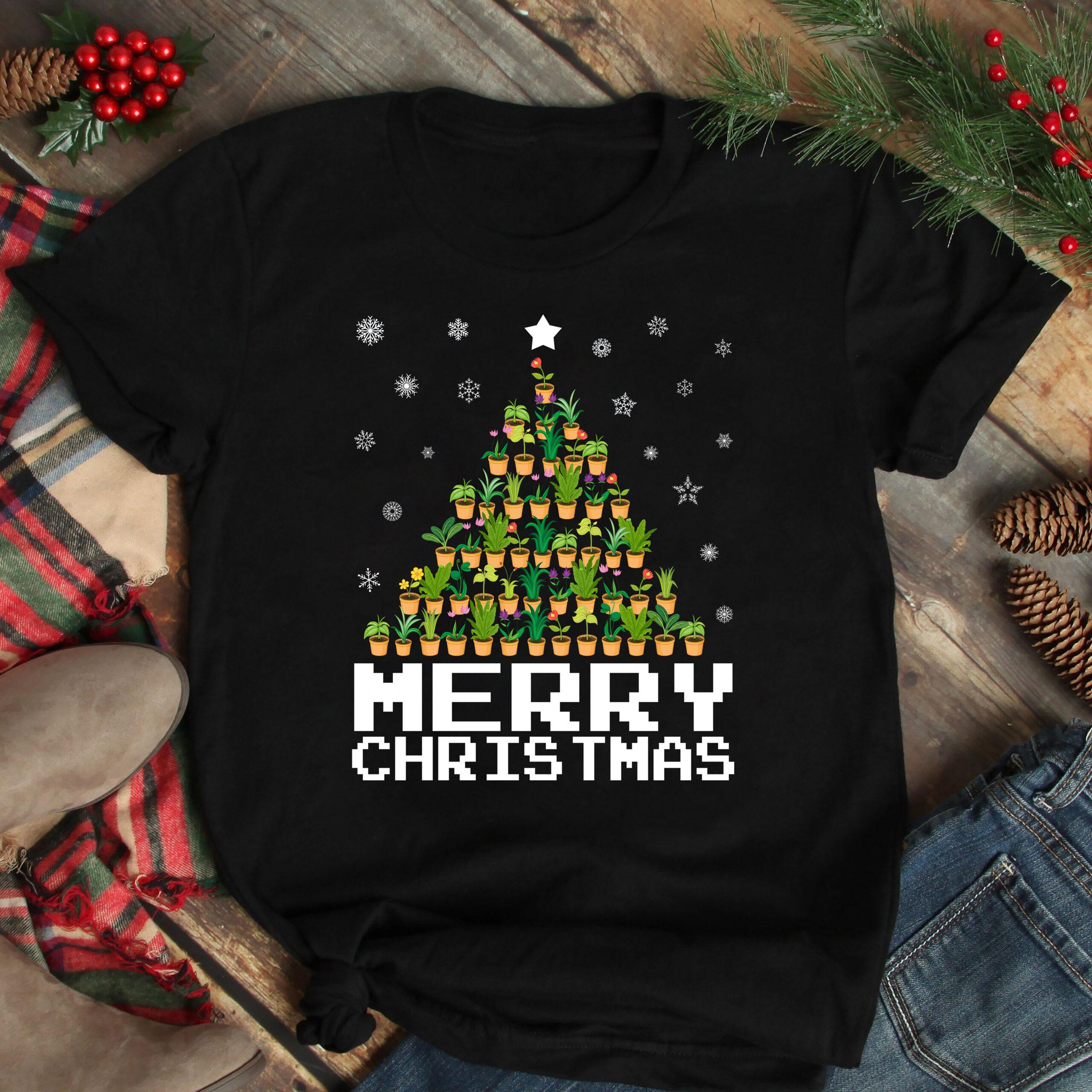 Merry Christmas Gardening Shirt Pine