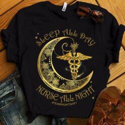 Night Shift Nurse Shirt Nurse All Night Crescent