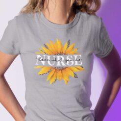 Sunflower Nurse Shirt Love What You Do