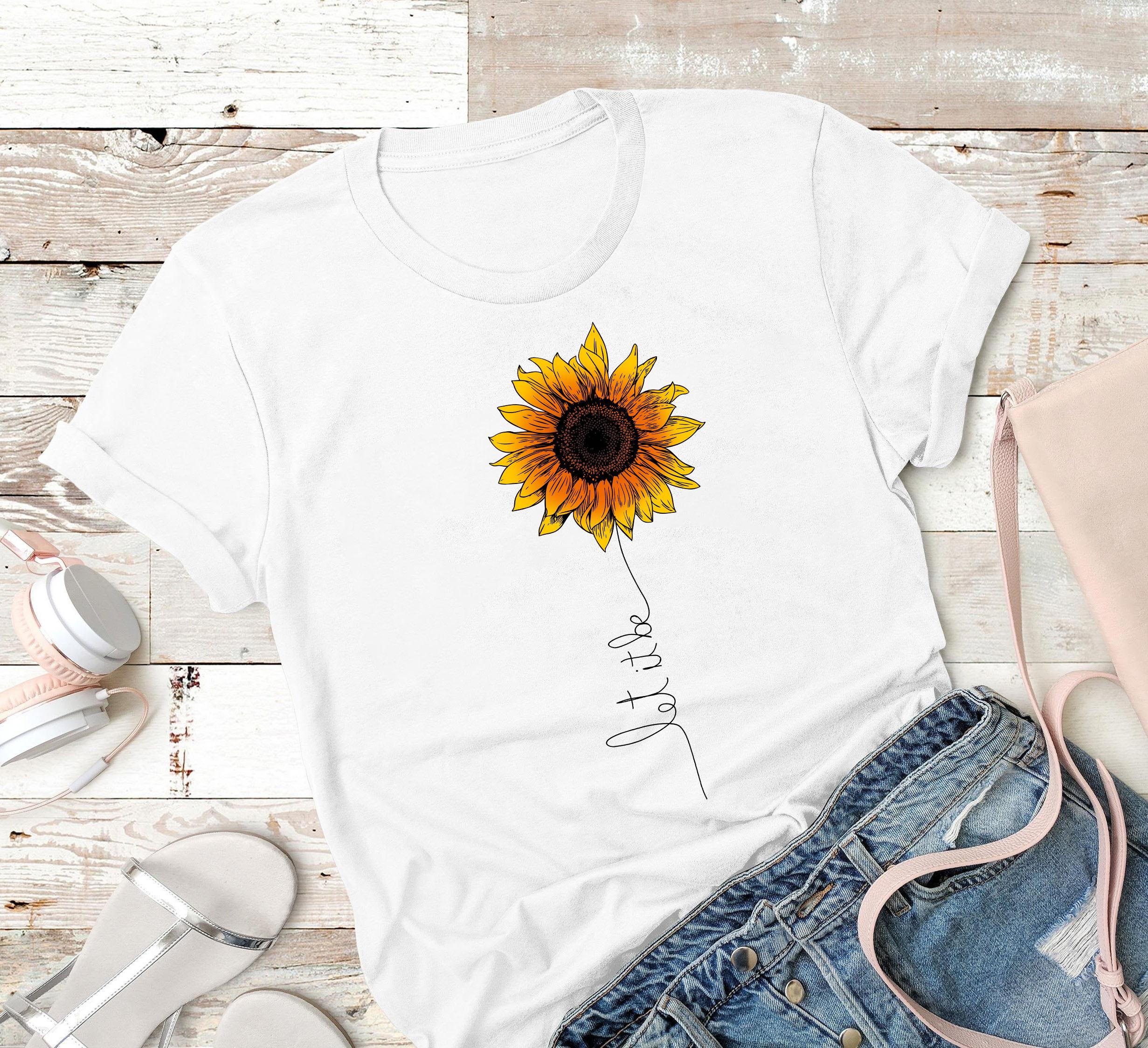 Sunflower Shirt Let It Be Gardening