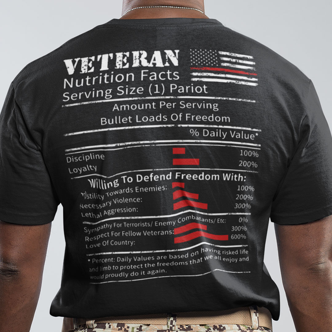 Veteran Shirt Nutrition Facts Serving Size 1 Patriot