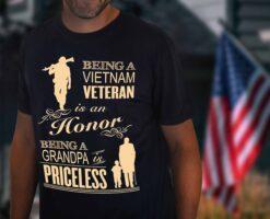 VietNam Veteran Shirt Being Grandpa Is Priceless