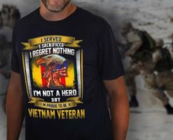 Vietnam Veteran Shirt I Served Sacrificed Regret Nothing