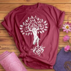 Yoga Shirt Human Tree Namaste
