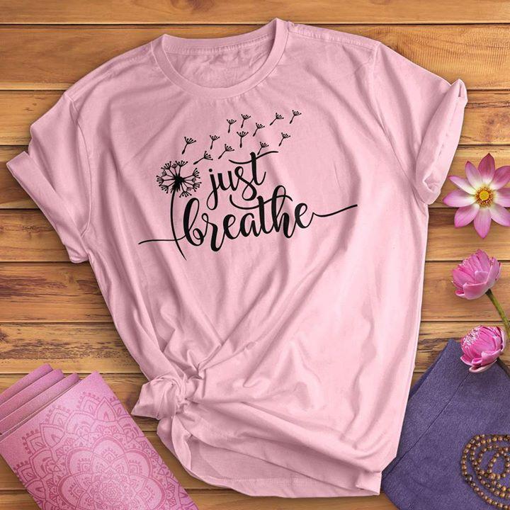 Yoga Shirt Just Breath Dandelion