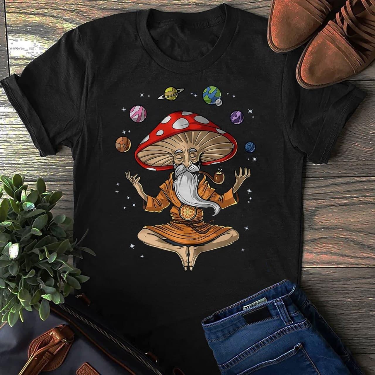 Yoga Shirt Magic Mushroom Mediation