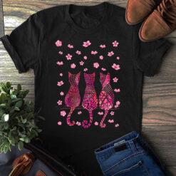 3 Cats Back Sakura Shirt