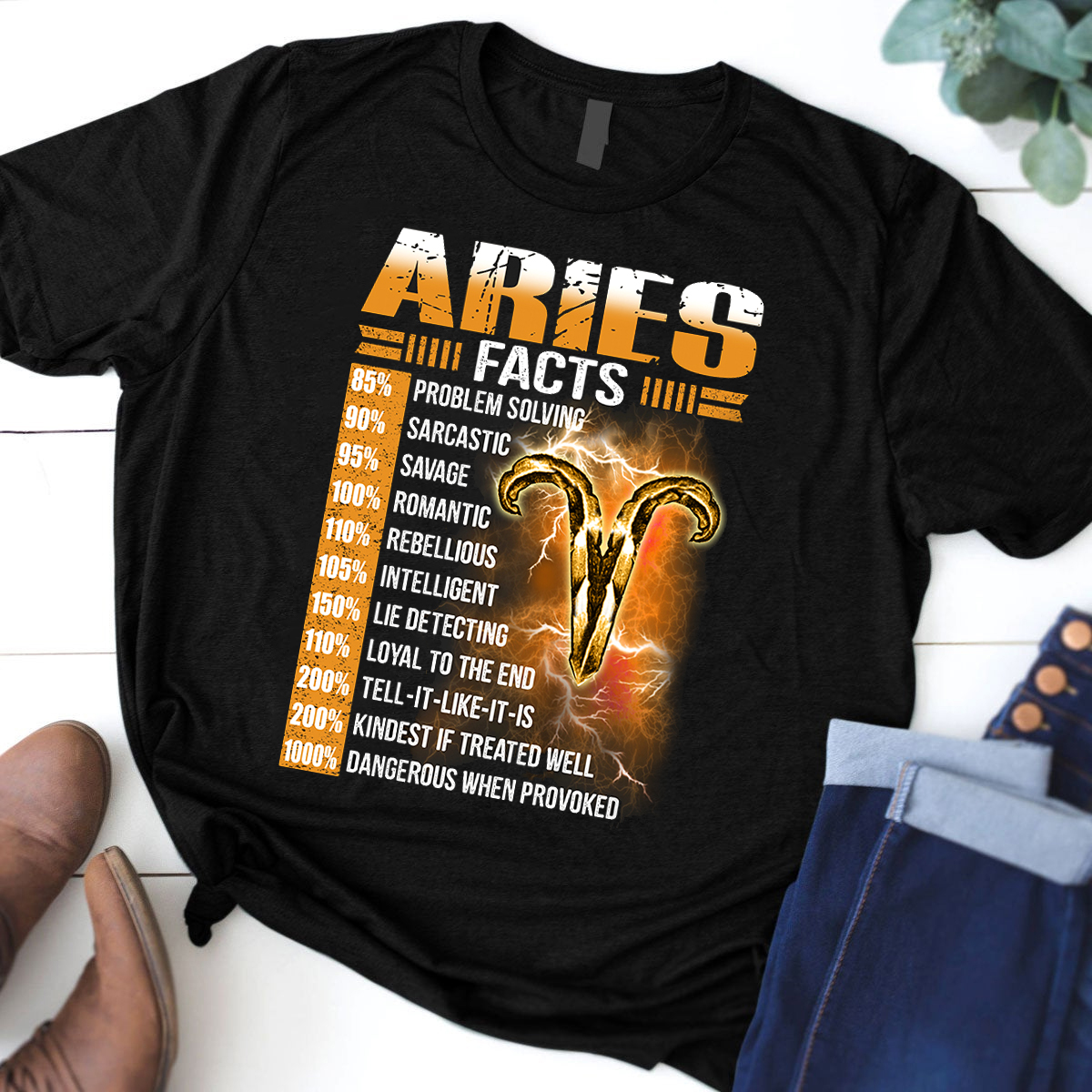 Aries Facts 1 Awesome Zodiac Sign Shirt