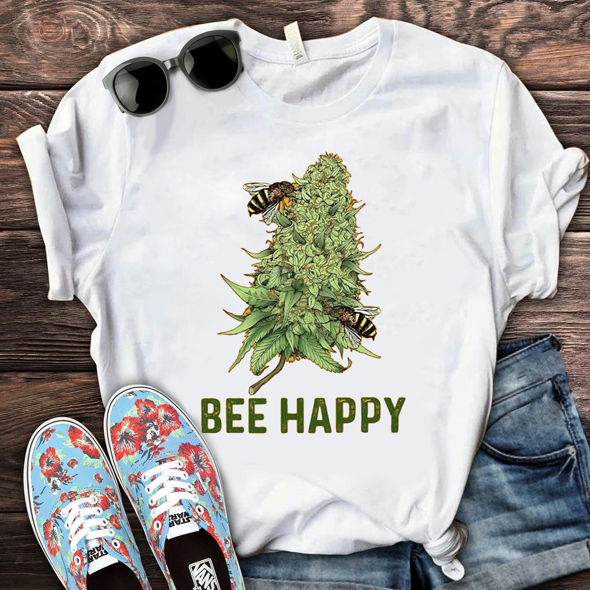Bee Happy Cannabis Shirt