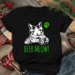 Beer Meow Shirt St Patrick Day