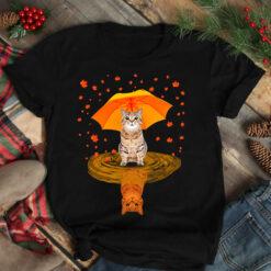 Cat Autumn And Umbrella Shirt