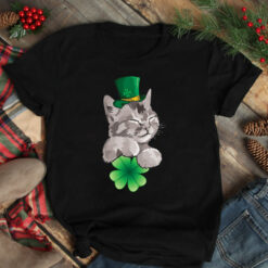Cat Shamrock Lucky Leaf Shirt St Patrick Day