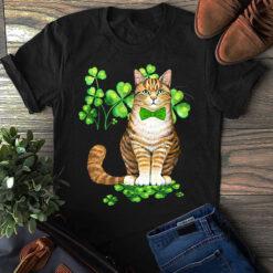 Cat With Shamrock Shirt St Patrick Day