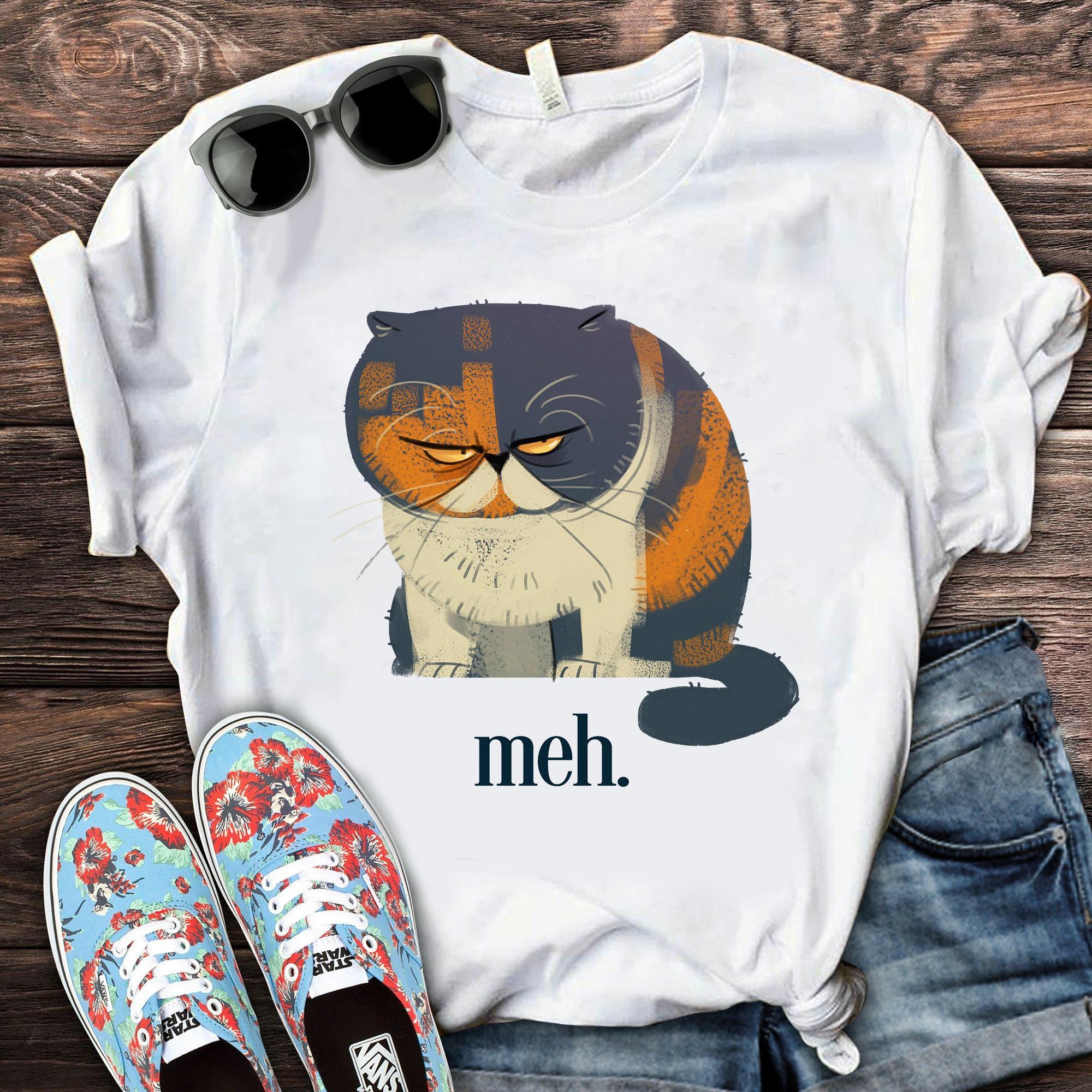 Funny Cat Meh Shirt