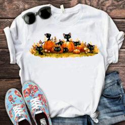 Funny Halloween Cat Pumpkin Shirt