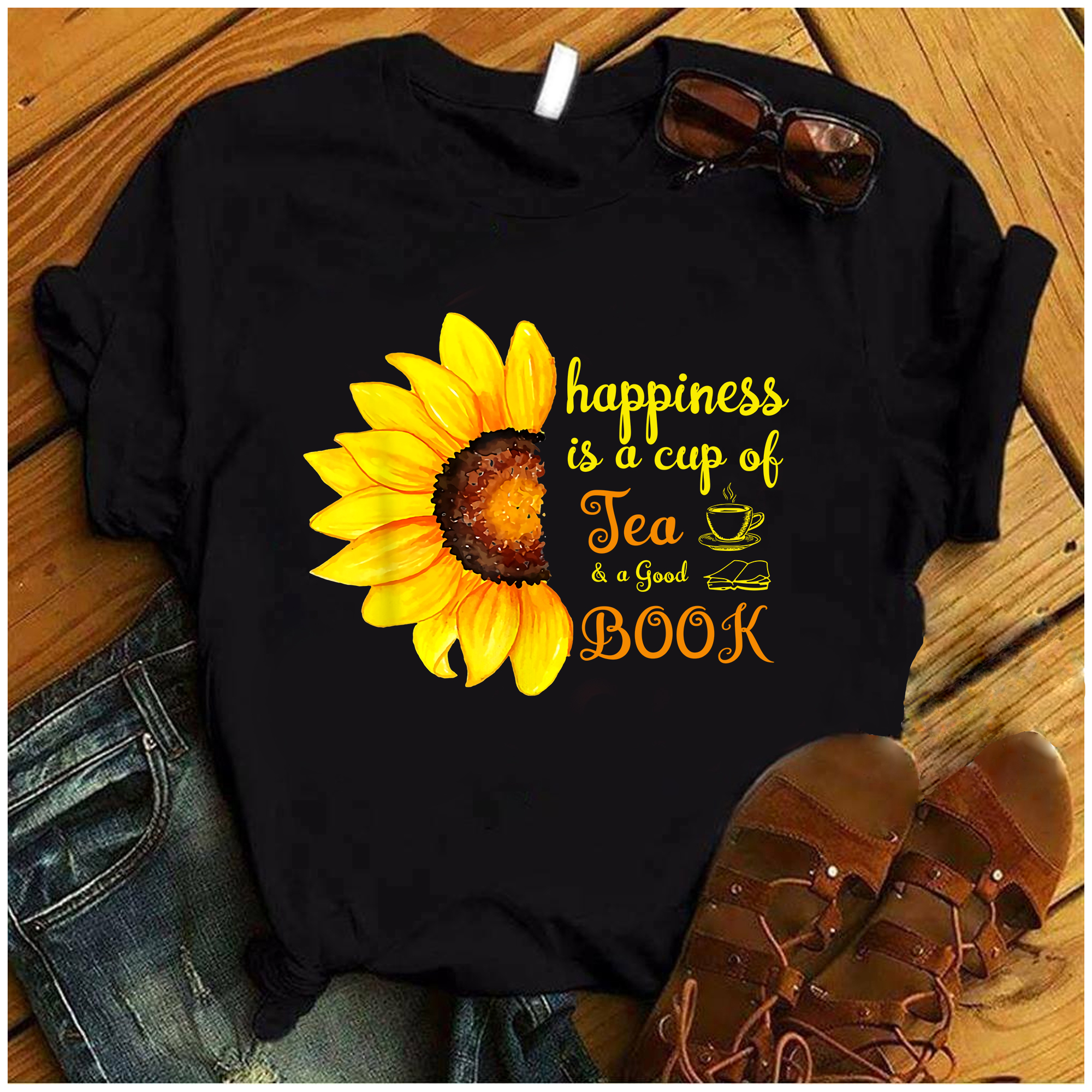 Happiness Is A Cup Of Tea And A Good Book Shirt
