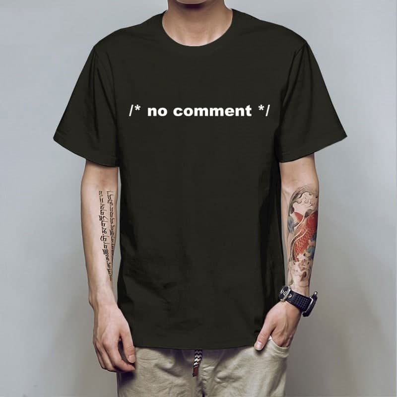 No Comment Shirt Funny Programmer T Shirt
