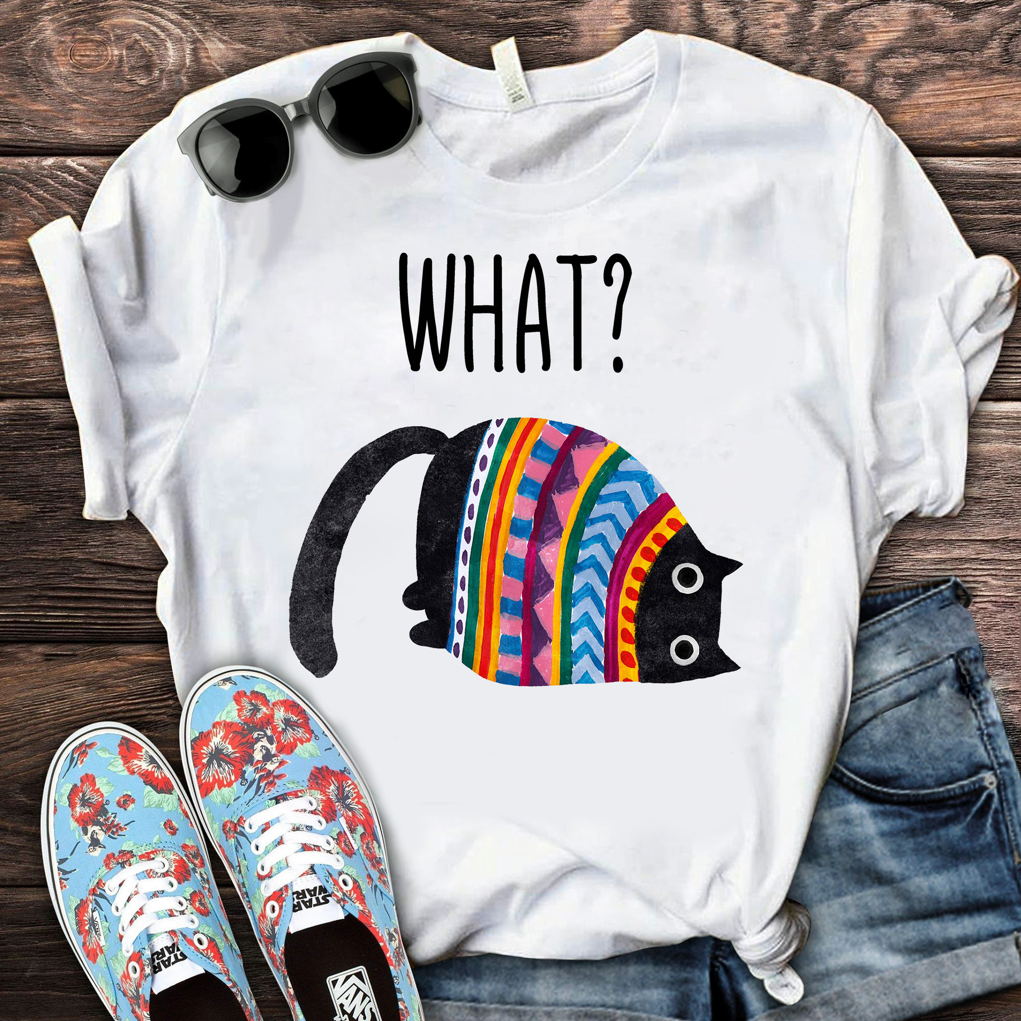 Rainbow Cat What Shirt