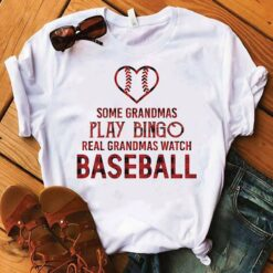 Real Grandmas Watch Baseball Shirt