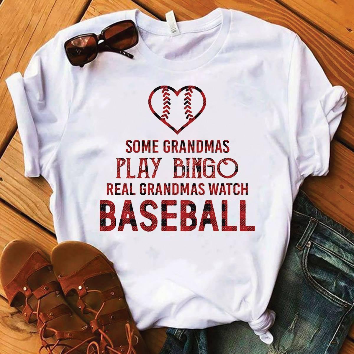 Real Grandmas Watch Baseball Shirt