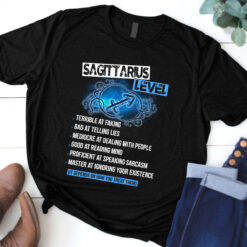 Sagittarius Level Shirt Terrible At Faking