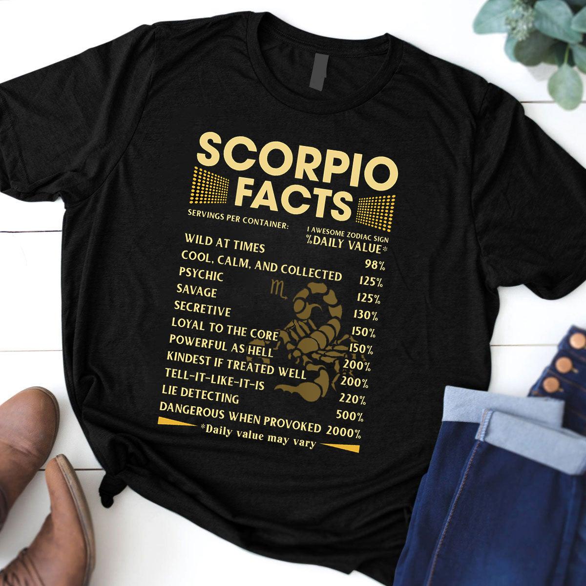 Scorpio Facts Shirt 1 Awesome Zodiac Sign
