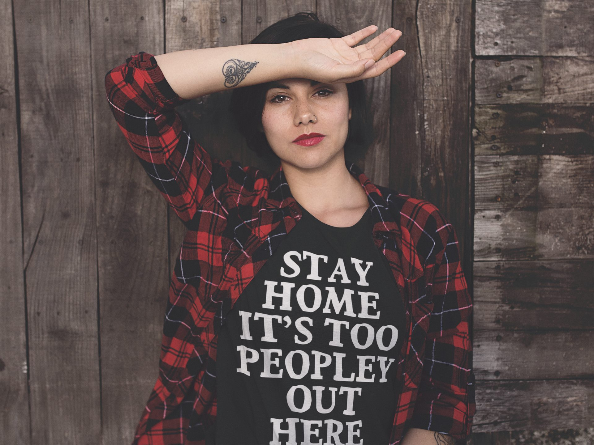 Stay At Home It's Too Peopley Out Here Shirt