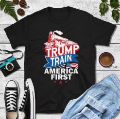 Trump Train American First Shirt 4th Of July