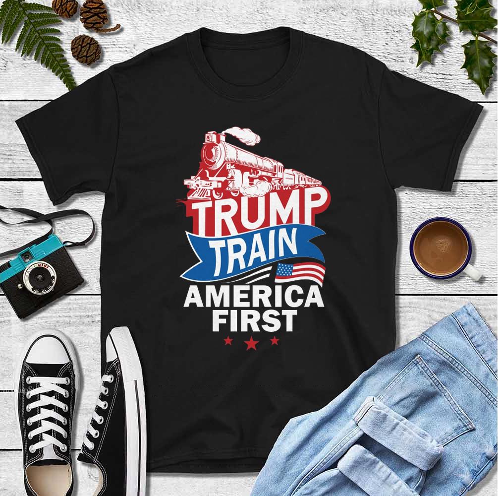 Trump Train American First Shirt 4th Of July