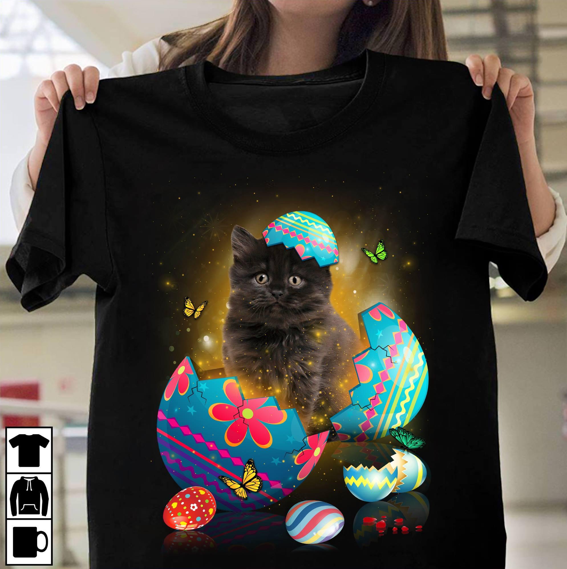 Black Cat Easter Day Shirt
