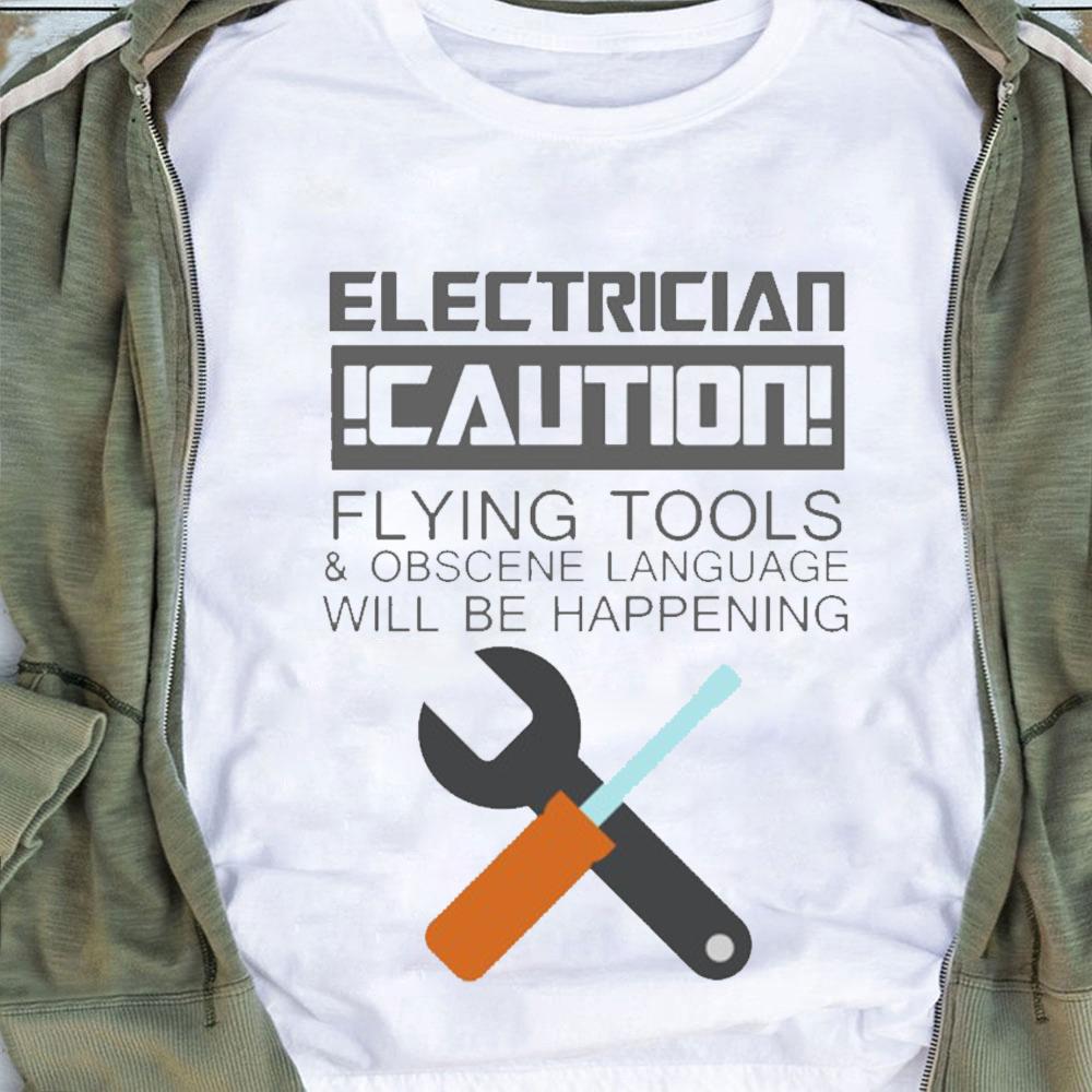 Obscene Lover Shirt Electrician Caution Obscene Language