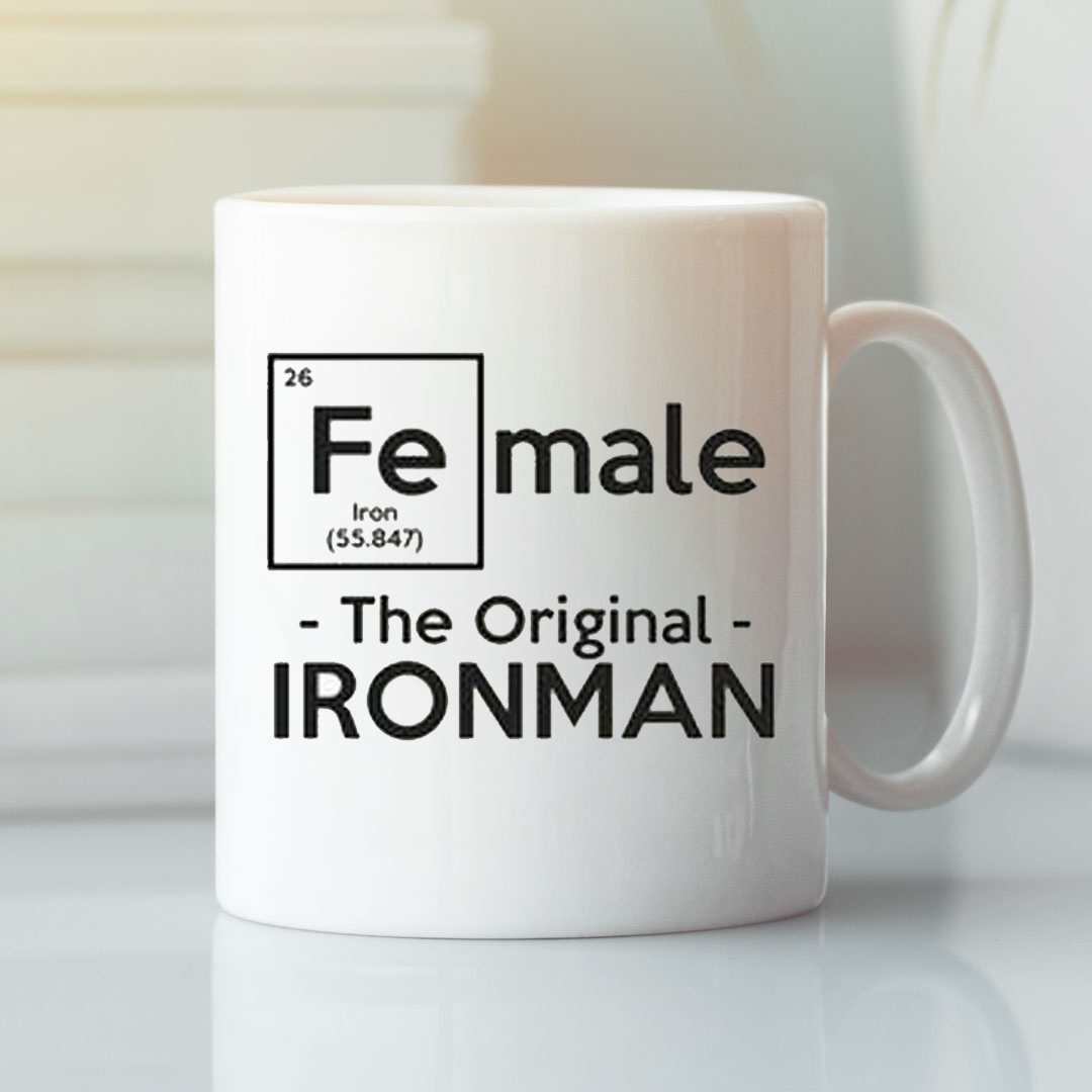 Science Female The Original Iron Man Mug