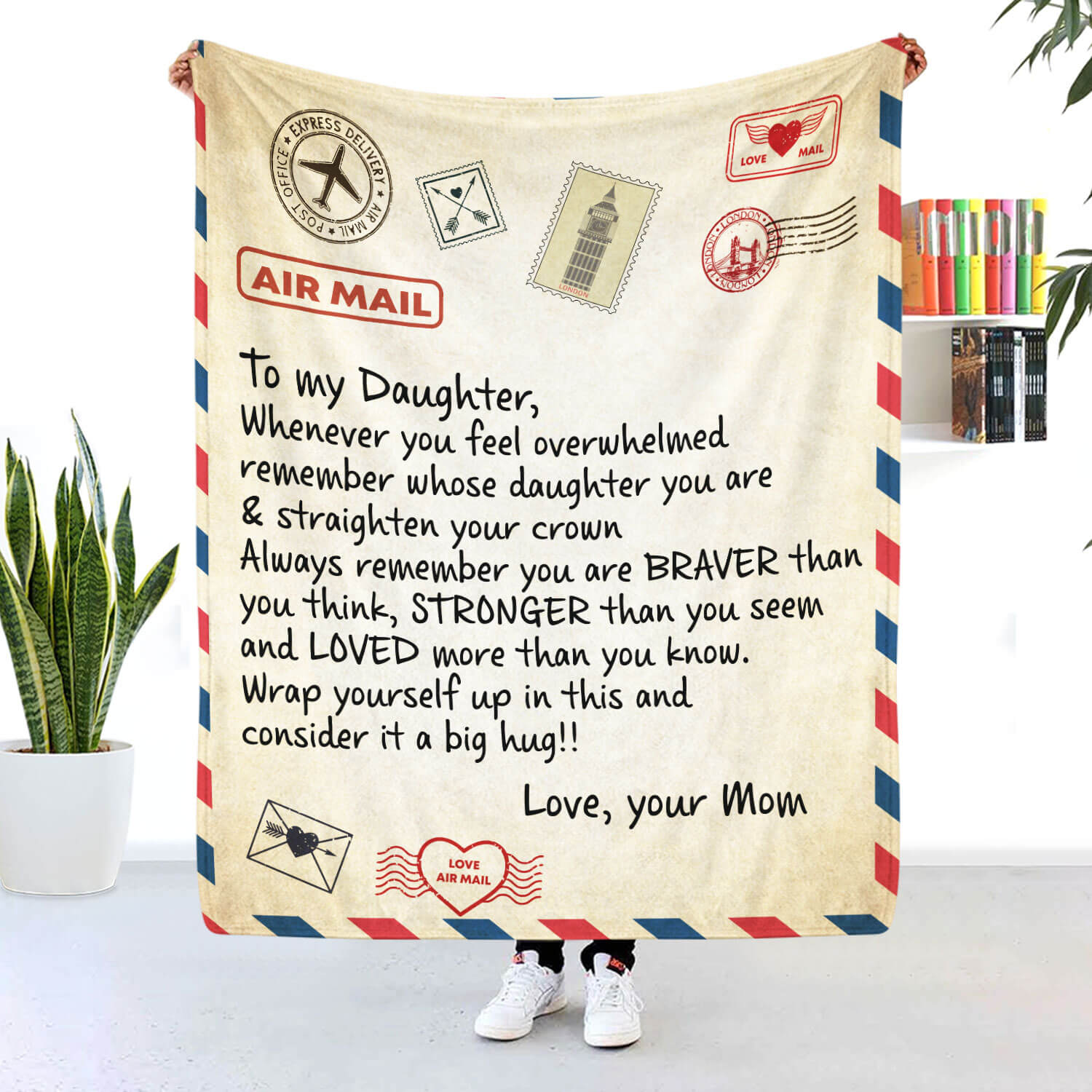 To My Daughter Blanket Remember You Are Braver Than You Think