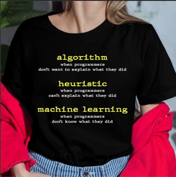 Algorithm Heuristic Machine Learning Programmer Shirt