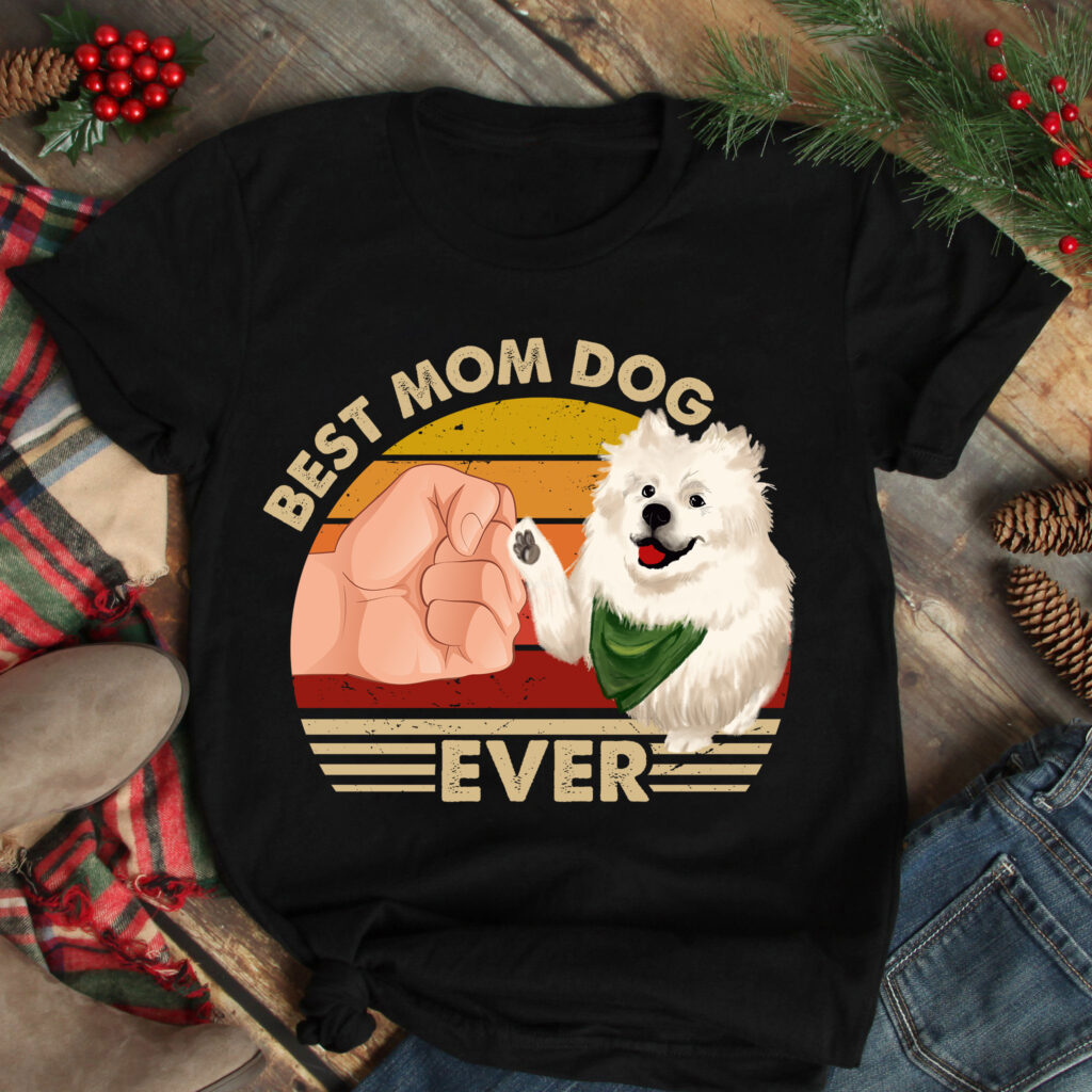 Best Mom Ever Shirt Vintage Best Samoyed Mom Ever