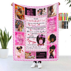 Black Girl Personalized Blanket To My Beautiful Granddaughter I Love You