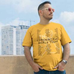 Coronavirus World Tour T Shirt mockup
