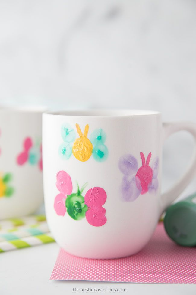 Fingerprint Butterfly Mugs